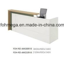Bureau principal de réception MFC blanc pour bureau (FOH-RD-AM1809)
