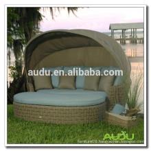 Audu Outdoor Wicker Round King Size Bed