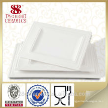 Wholesale dinnerware ceramic, hotel accessory white ceramic palette