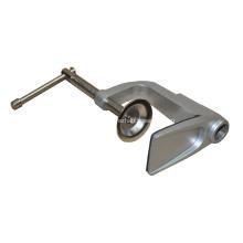 Soporte de mesa de aluminio con revestimiento plateado