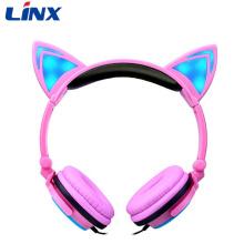 Linx LED light Cat Ear Headphone Shenzhen fones de ouvido