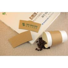 Защитные гофрированные одноразовые чашки горячего кофе