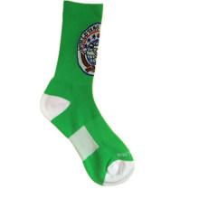 Calcetines de deporte de nylon de color con Terry y la rodilla alta (NTS-03)