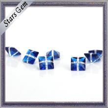Синтетический Гламур смешанные цвета синий и белый стекло