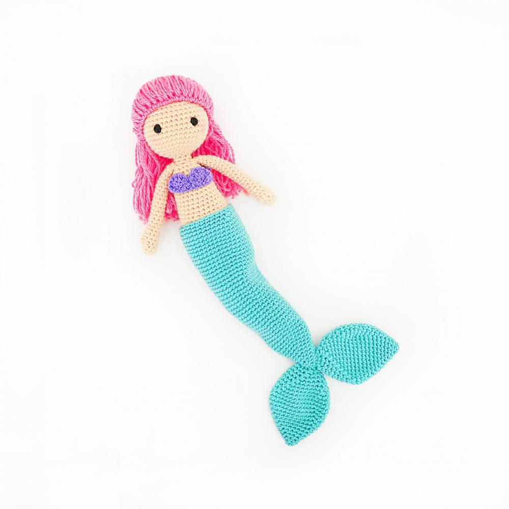 5 4 Crochet Mermaid Doll