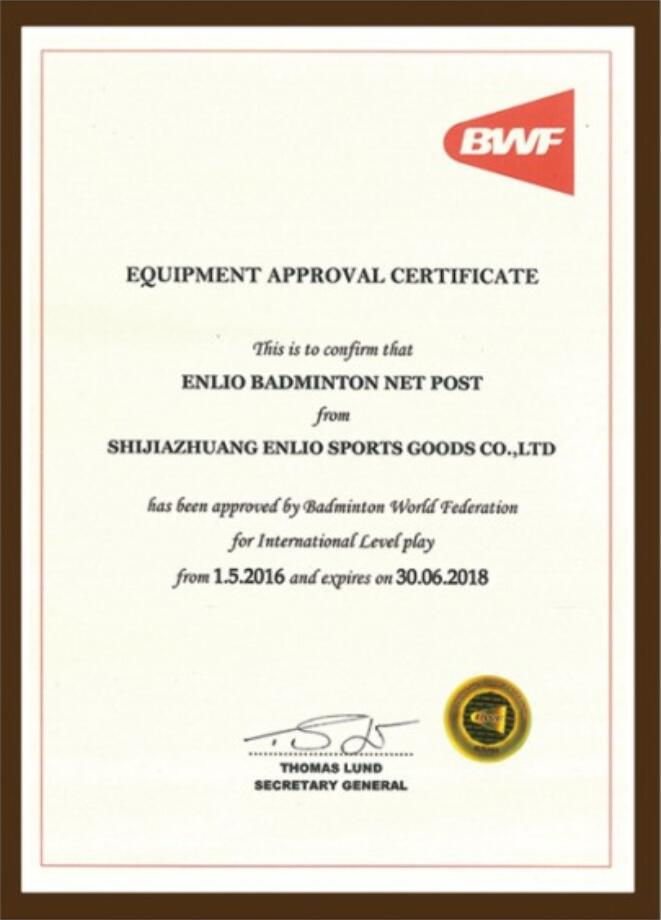 BWF approved net post