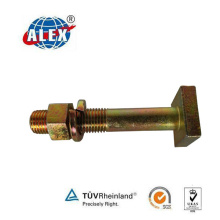 ISO Certificated Square Head Bolt, Galvanizing Track Bolt