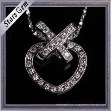 Preço de fábrica belo design de moda coração forma pingente de jóias