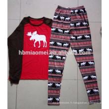 2016 diverses conceptions coton famille noël pyjamas adultes pyjamas noël gros