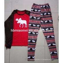 2016 различных конструкций хлопковые семейные рождественские пижамы для взрослых пижамы Рождество оптом