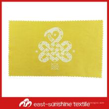 Обтирочная ткань для чистки линз из микрофибры с печатью шелкового логотипа, ткань для чистки ювелирных изделий из микрофибры