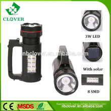 ABS material 3W LED+8 SMD rechargeable led camping light