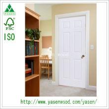 Porta de madeira de estilo branco pintura MDF Europa