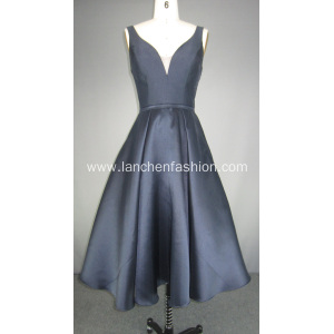 Mikado Short Sleeveless Cocktail Prom Dress