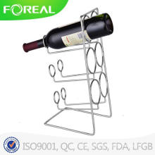 High Quality 6-Bottle Metal Wire Wine Holder