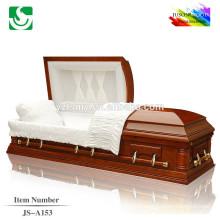 Spéculaire eau peinture solide bois haute brillance cercueils à vendre