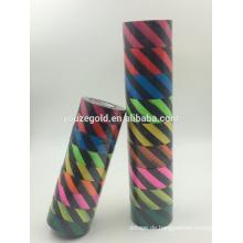 """PVC-fluoreszierendes Markierungsband schwarz in der Farbe mit gelben 1/2 """"Diagonalstreifen alle 1/2"""""""