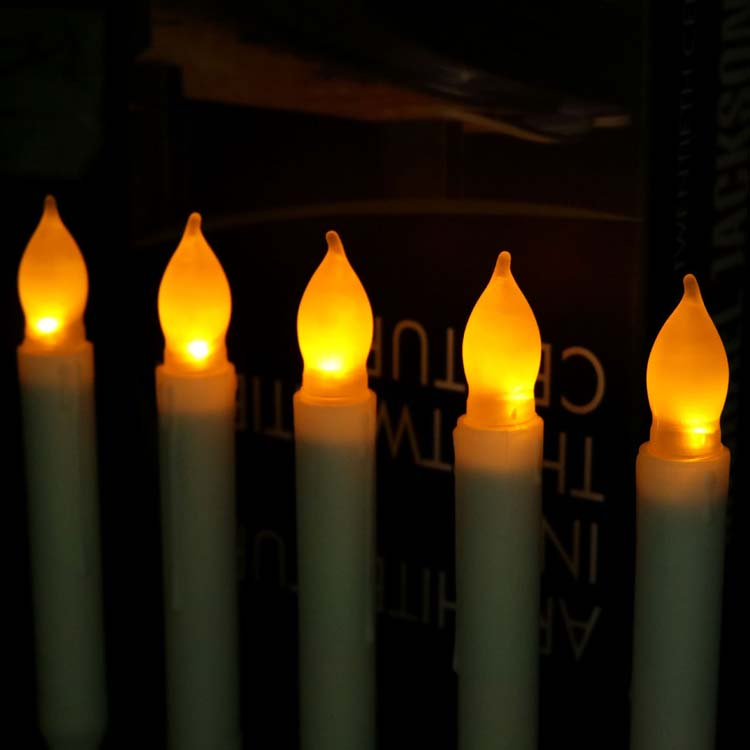 White and Yellow Taper LED Candles