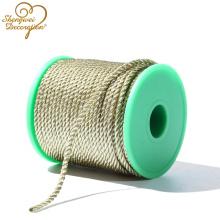 5мм золотой металлической витой шнур