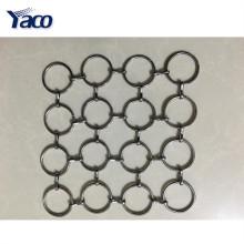 Tela de malha flexível popular do metal, cortina da malha do metal, rede de arame decorativa