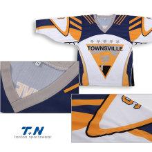 Сублимация Custom обратимых трикотажных хоккей, хоккей Джерси рубашки