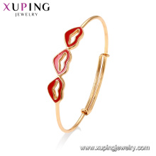 52028 Xuping Jewelry fashion Lipsticks simple gold bangle design