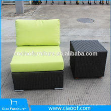 Rattan wicker center sofa with cushion