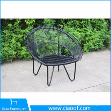 Unique Iron peacock chair flat wicker garden chair
