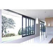 Moderne Sektionale Schieberahmen Aluminium Türen und Fenster