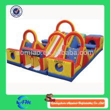Barato novo estilo inflável obstáculo curso inflável slide obstáculo curso idéias