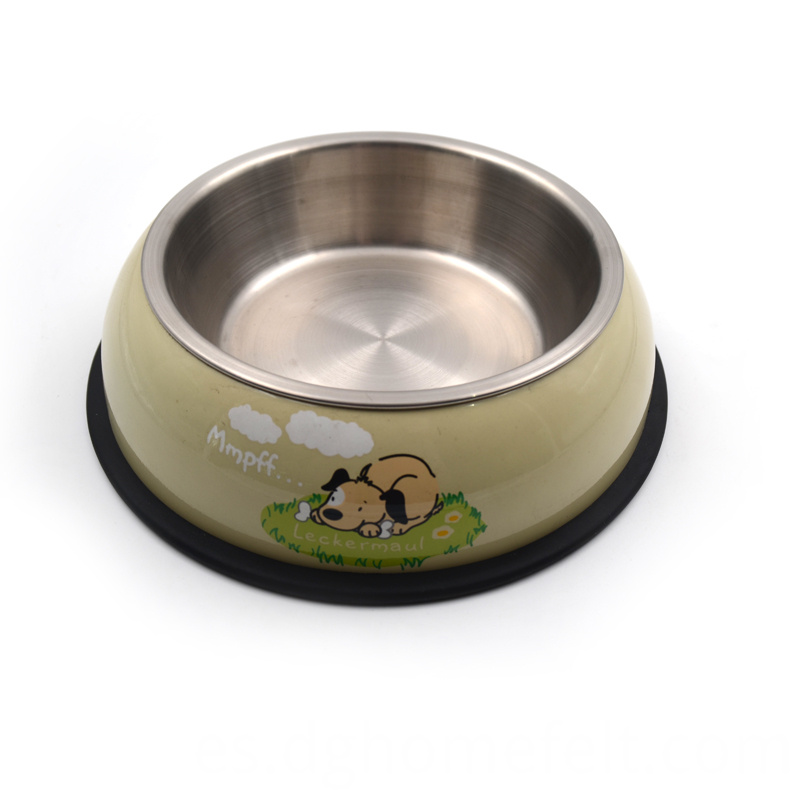 Single Stainless Steel Pet Bowl with SS Base
