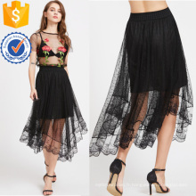 Sheer Dobby Mesh Overlay Jupe Fabrication En Gros Mode Femmes Vêtements (TA3084S)