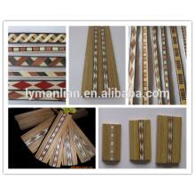 marco de madera con barra de color
