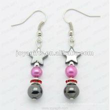 Moda Hematite Estrela Beads Brinco