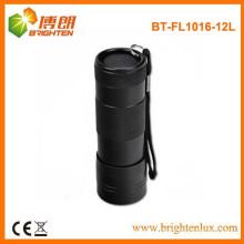 Chine usine fourniture en main en aluminium en métal noir 12 torche torche, 12 led bonne lampe de poche avec bracelet