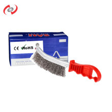 Latest Design Car Cleaning Copper Wire Polishing Brush With Plastic Handle  Car Wash Equipment
