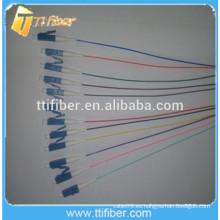 12 colores Singlemode LC 12 núcleo de fibra óptica Pigtail