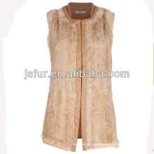 New fashion and warm wool and real rabbit fur women vest