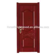 Puerta interior de melamina de madera de estilo simple para la puerta de la sala de estar