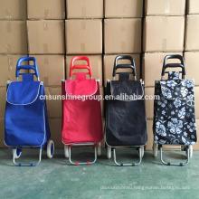 600D Polyester Folding Shopping Trolley Cart