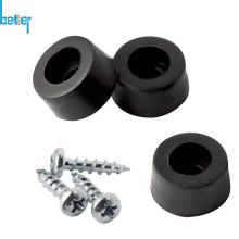 Pies de caucho termoplástico con buje de soporte de acero / metal
