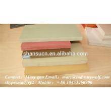 panneau de mousse extrudé par PVC de haute qualité / feuilles de plexiglas / matériaux en faisant des pantoufles / feuilles de polycarbonate
