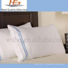 Emballage en plastique de caisse d'oreiller de coton de l'hôtel 100 de haute qualité