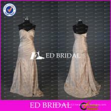 ED Bridal Elegant Sweetheart Mermaid Beaded Ruched Taffeta Long Mother Of The Bride Dress 2017