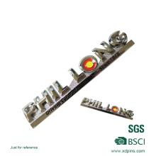 Zink-Legierungs-hohe polnische weiche Emaille-Auto-Aufkleber-Namensschild (XDP-01)