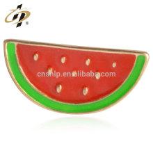 Top sale alloy casting custom watermelon metal enamel badge
