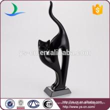 Atacado Decoração para casa de cerâmica Modern Black Cat