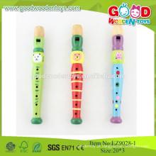 Conjuntos de instrumentos de música baratos de alta qualidade Flauta musical de madeira Brinquedos infantis