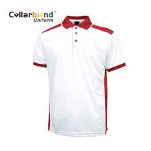 Polo rojo blanco cómodo manga corta