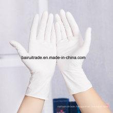 White Disposable Nitrile Rubber Gloves Medical White Oil Resistant Gloves
